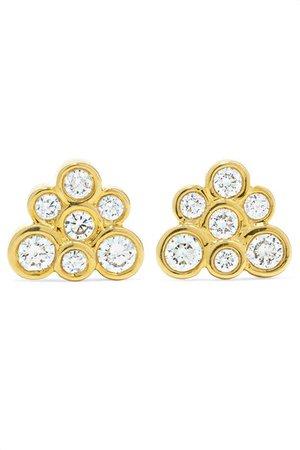 Ippolita   Starlet 18-karat gold diamond earrings   NET-A-PORTER.COM