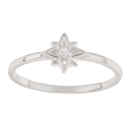 Sterling Silver CZ Southern Star Ring | The Warehouse