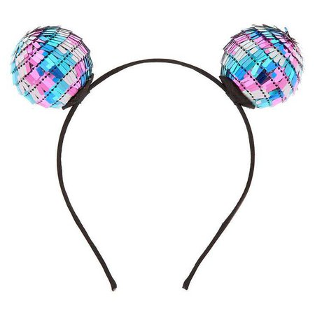 Sequin Pom Ear Headband