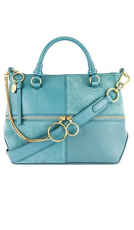 See By Chloe Emy Small Satchel in Mineral Blue | REVOLVE