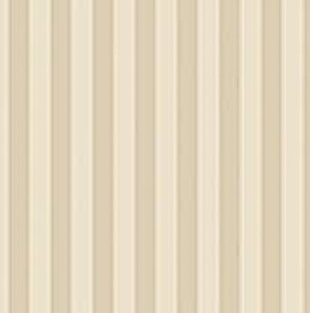Cream and Brown Stripes Wallpaper