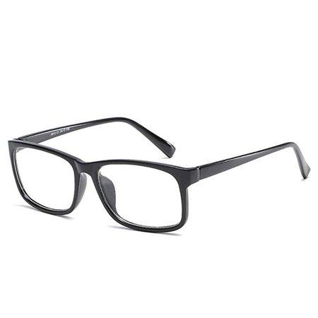 Amazon.com: D.King Vintage Inspired Women Rectangle Eyeglasses Frame Eyewear Clear Lens Glasses Black: Clothing