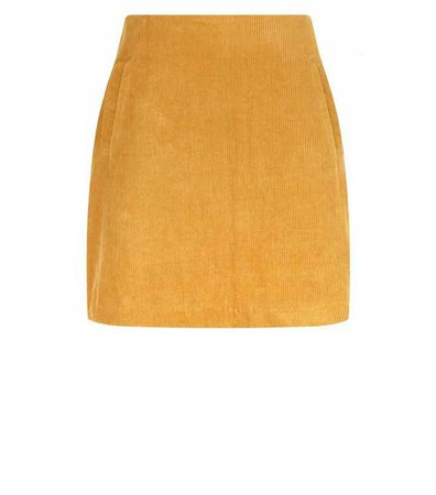 Yellow Corduroy Mini Skirt | New Look