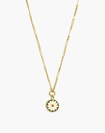 Daisy Delight Enamel Pendant Necklace