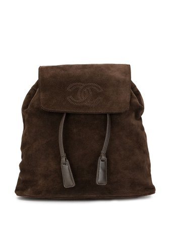 Chanel Pre-Owned 1998 Cc Drawstring Backpack 5788924 Brown | Farfetch