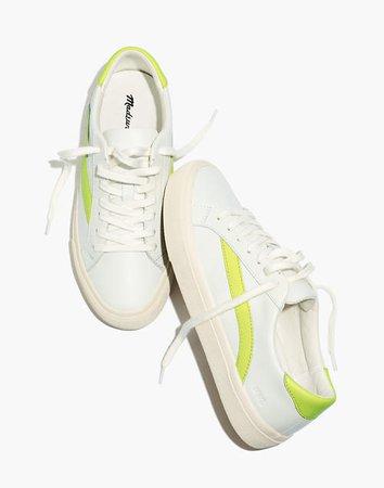 Women's Sidewalk Low-Top Sneakers in Leather white