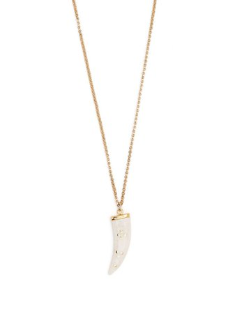 Shop Isabel Marant Aimable horn-pendant necklace with Express Delivery - FARFETCH