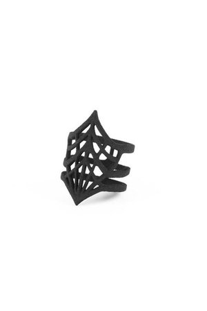 Black Widow Cobweb Ring by The Rogue + The Wolf | Gothic