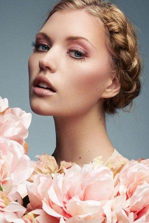 soft peach makeup look - Google Search