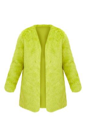 Lime Green Fur Coat