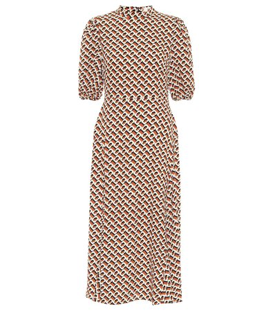 Nella Printed Crêpe Midi Dress - Diane von Furstenberg | Mytheresa