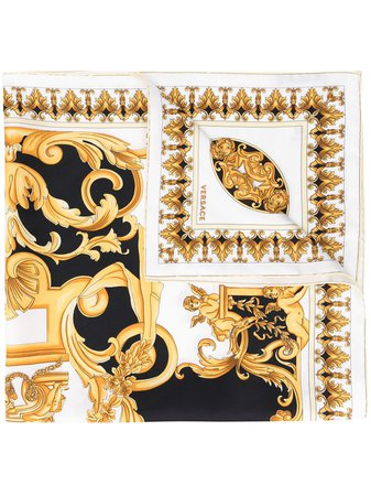 Versace Baroque style-print Square Scarf - Farfetch