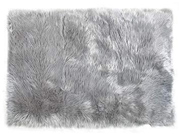fur rug grey - Google Search