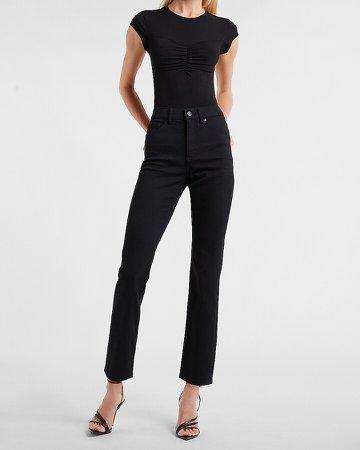 High Waisted Black Slim Jeans