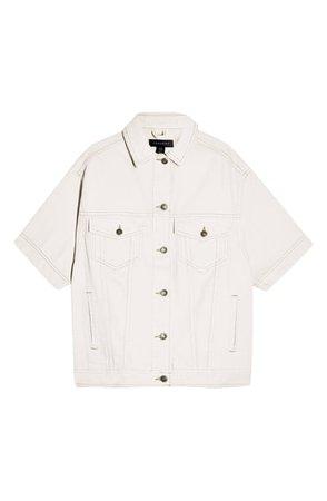 Topshop Short Sleeve Oversize Denim Jacket | Nordstrom