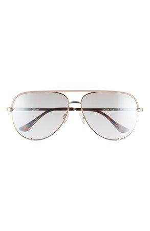 Quay Australia High Key 62mm Oversize Aviator Sunglasses | Nordstrom