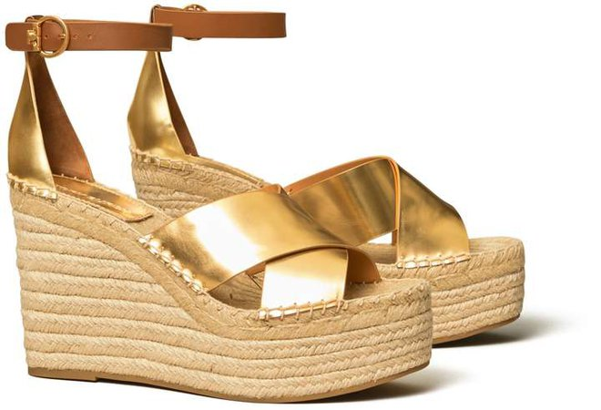 Selby Metallic Wedge Espadrille Sandal