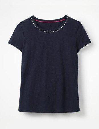 Charlie Jersey T-Shirt - Navy