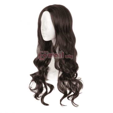 Movie Wonder Woman Diana Princess Gal Gadot Cosplay Wigs Synthetic Brown Long Curly Wigs - L-email Cosplay Wig