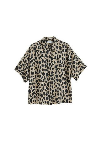 MANGO Animal print shirt