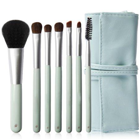 Amazon.com: HopeMate Makeup Brushes 7 PCs Makeup Brush Set Foundation Brush Lip Brush Eye Shadows Make Up Brushes Kit, Mint Green: Beauty