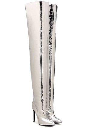 Balenciaga Metallic Silver Booties