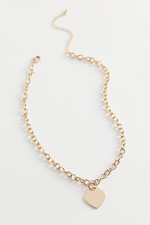 Heart Chain Necklace | Urban Outfitters