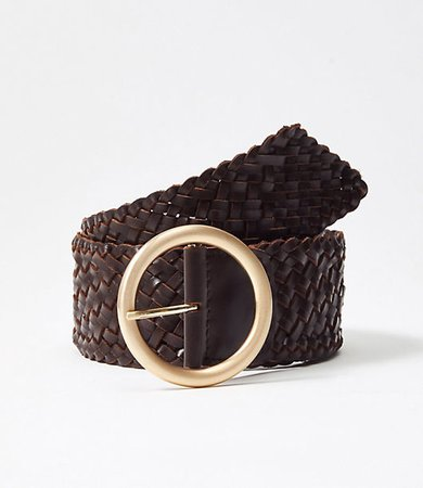 Braided Leather Waist Belt