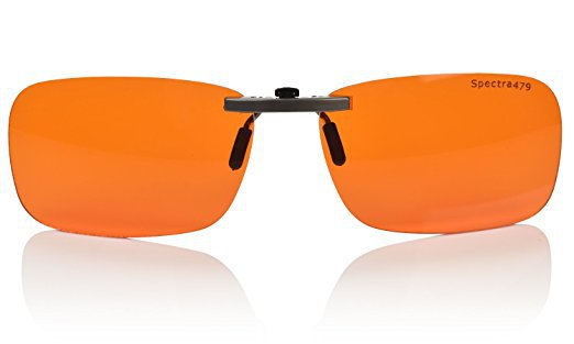 Clip-On Blue Blocking Amber Glasses - BioRhythm Safe(TM) - Nighttime Eye Wear - Special Orange Tinted Glasses To Relax Your Eyes: Sports & Outdoors
