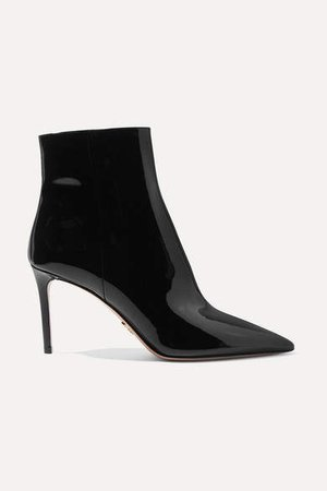 85 Patent-leather Ankle Boots - Black