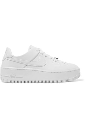 Nike | Nike Air Force 1 Sage textured-leather sneakers | NET-A-PORTER.COM