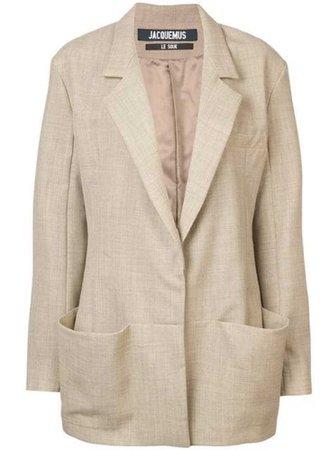 jacquemus oversized pocket blazer