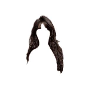 Brown Black Hair Bangs PNG
