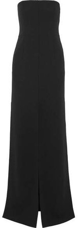 Strapless Wool-blend Gown - Black