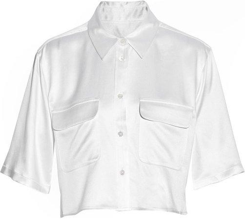 white silk crop top - Google Search