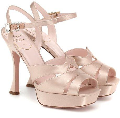 Viv' Bling satin plateau sandals