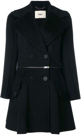 zip waist detail coat