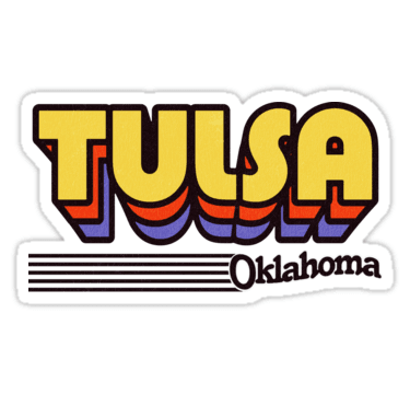 """Tulsa, Oklahoma | Retro Stripes"" Stickers by retroready | Redbubble"
