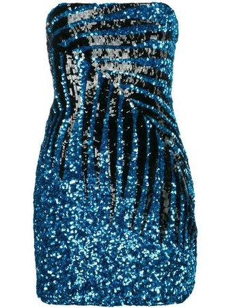 Attico Sequinned Cocktail Dress - Farfetch