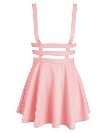 Pink Suspender Skater Skirt