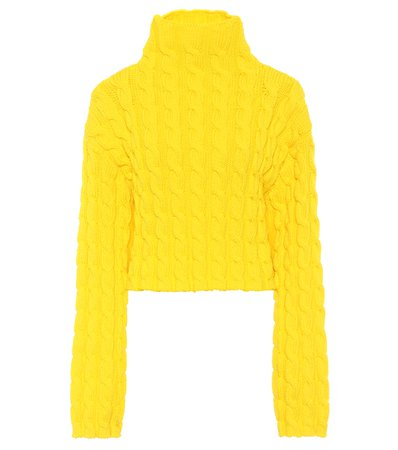 Cable-Knit Turtleneck Sweater | Balenciaga - Mytheresa