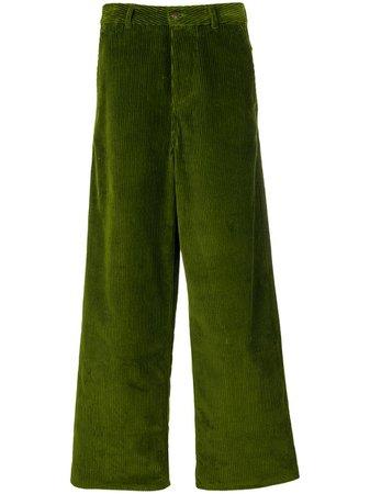 AMI Paris Large Leg Fit Trousers - Farfetch