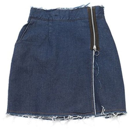 Jean Skirt With Zipper