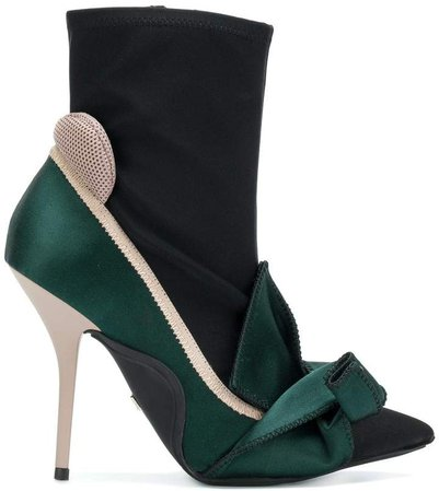 abstract bow ankle boots