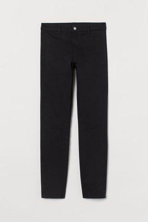 Skinny High Ankle Jeans - Black