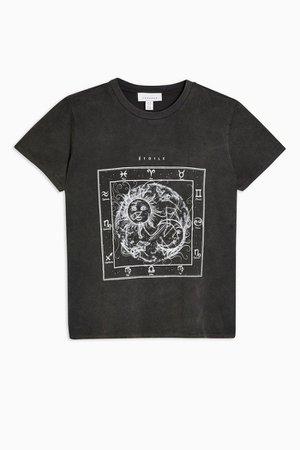 Charcoal Grey Etoile T-Shirt   Topshop