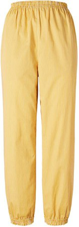 Striped Elastic-Waist Pant