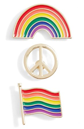 BP. Be Proud by BP. 3-Pack Gender Inclusive Accessory Pins | Nordstrom