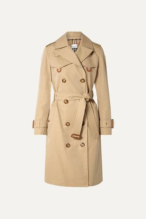 Beige Cotton-gabardine trench coat | Burberry | NET-A-PORTER