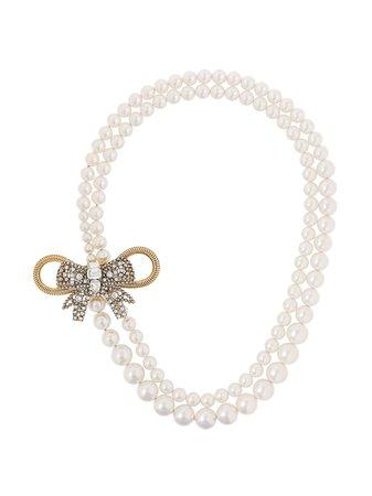 Collar con lazo y detalle de perla Miu Miu por 790€ - Compra online AW20 - Devolución gratuita y pago seguro